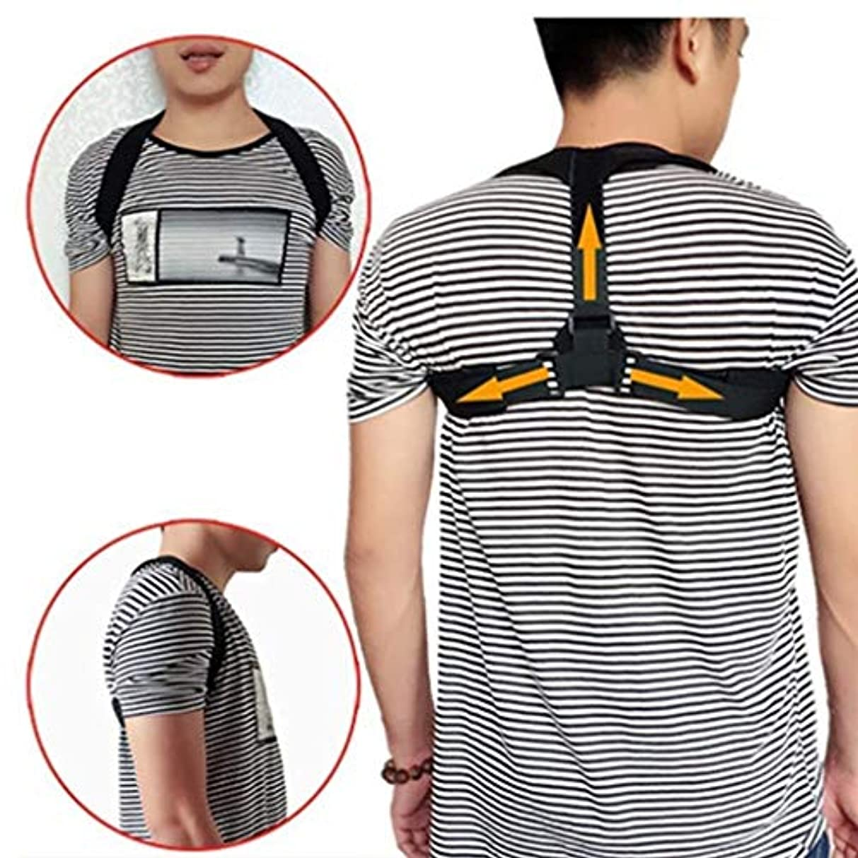 洪水リアルどれ背中矯正ベルト、背中の姿勢ブレース、背中の曲がりの防止、筋肉の弛緩、姿勢の改善、ユニセックス