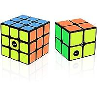 WTOR 2個セット スピードキューブ 立体パズル 最新ver2.0世界基準配色 ポップ防止 回転スムーズ 競技専用 6面完成攻略書付属(3X3X3と2X2セット) (2セット)