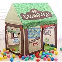 ABSTEPS おもちゃのテント - 漫画の赤ちゃんのおもちゃテント 子供の木のプレイハウス 子供のプライベートスペース スペアルームプレイプリンセスおもちゃテント 1個