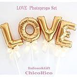 ChicoRico A0603 LOVE フォトプロップス ウェディング?前撮り?結婚式 披露宴 フォトラウンド (1.ベビーピンク)