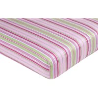 Sweet Jojo Designs Jungle Friends Fitted Crib Sheet for Baby/Toddler Bedding Sets - Stripe Print [並行輸入品]