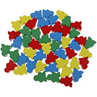 Fityle 木製 チェス セット 子供 知育玩具 ゲーム 小道具 50個入り