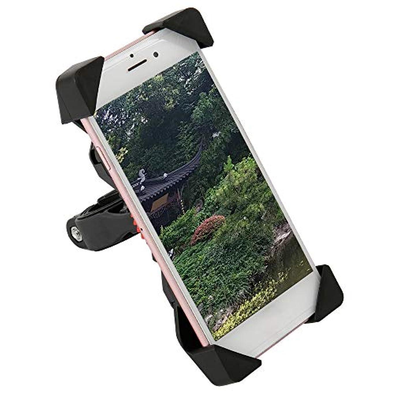 ベスビオ山付き添い人麻酔薬Powanfity 自転車 スマホ ホルダー 振れ止め 脱落防止 オートバイ バイク スマートフォン GPSナビ 携帯 固定用 マウント スタンド 防水 に適用iphone7 8 X xperia HUAWEI android 多機種対応 角度調整 360度回転 脱着簡単 強力な保護 (ブラック)
