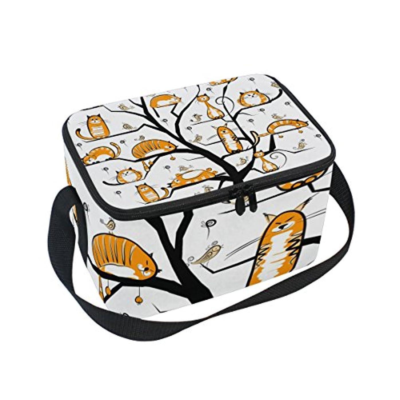 分離キャッチ大学院クーラーバッグ クーラーボックス ソフトクーラ 冷蔵ボックス キャンプ用品  木 猫 保冷保温 大容量 肩掛け お花見 アウトドア