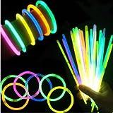 光る蛍光ブレスレット8色 100本セット 蛍光 ペンライト (8色100本セット)