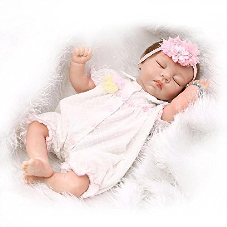 Nicery 人形 Babyリボーンベビードールソフトハーフシリコーンビニール20インチ50センチメートルの磁気口リアルな少年少女のおもちゃはピンクスリーピング Reborn Dolls JP
