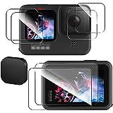 【blackbeetle】に適用するGoPro HERO 9 BLACK フィルム ゴープロ9 強化ガラスフィルム 液晶保護フィルム(背面タッチスクリーン+レンズ+前面スクリーンフィルム) 6枚入り2セット+レンズキャップ アクセサリー