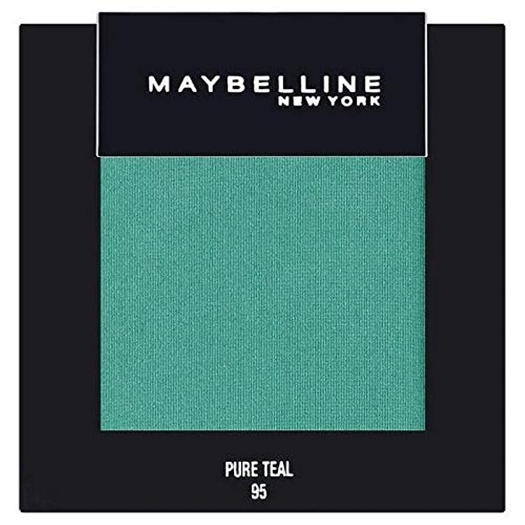 にんじん手入れジャズ[Maybelline ] メイベリンカラーショー単一グリーンアイシャドウ95純粋ティール - Maybelline Color Show Single Green Eyeshadow 95 Pure Teal [並行輸入品]