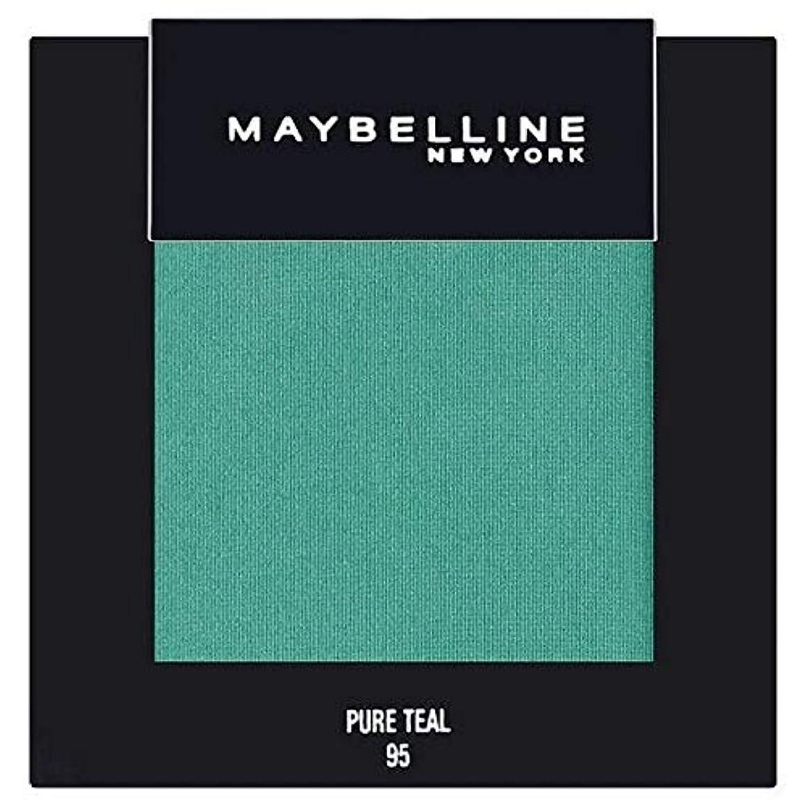 それから避難長さ[Maybelline ] メイベリンカラーショー単一グリーンアイシャドウ95純粋ティール - Maybelline Color Show Single Green Eyeshadow 95 Pure Teal [並行輸入品]