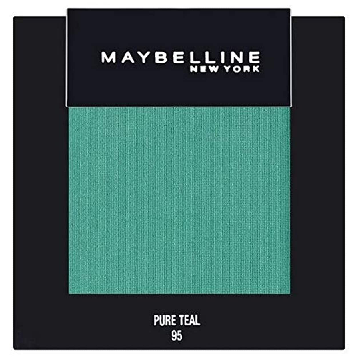 僕のぴかぴか偽善者[Maybelline ] メイベリンカラーショー単一グリーンアイシャドウ95純粋ティール - Maybelline Color Show Single Green Eyeshadow 95 Pure Teal [並行輸入品]