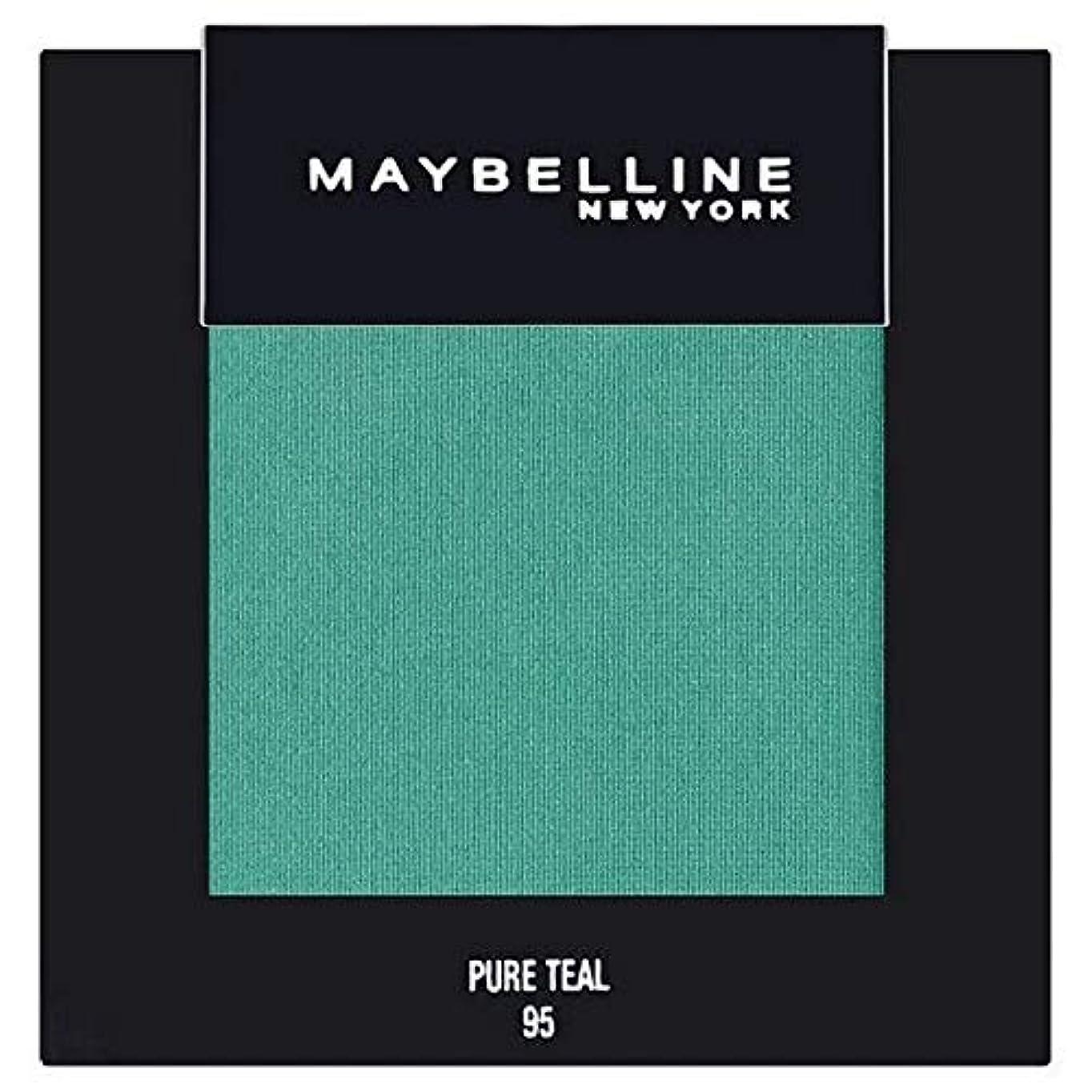 波紋おとなしい刑務所[Maybelline ] メイベリンカラーショー単一グリーンアイシャドウ95純粋ティール - Maybelline Color Show Single Green Eyeshadow 95 Pure Teal [並行輸入品]