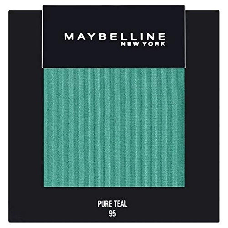 ドラフト高層ビル開梱[Maybelline ] メイベリンカラーショー単一グリーンアイシャドウ95純粋ティール - Maybelline Color Show Single Green Eyeshadow 95 Pure Teal [並行輸入品]