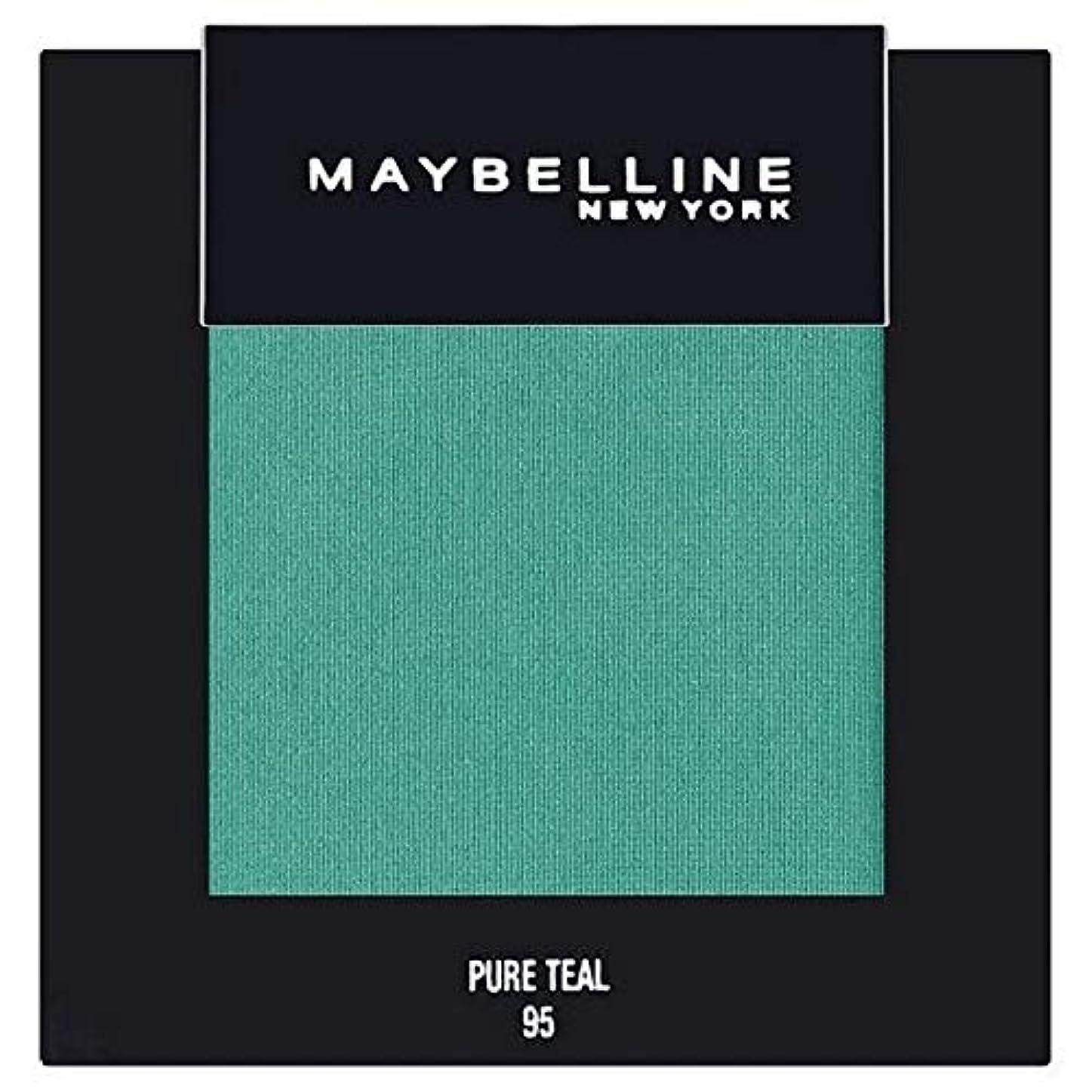 暴露マーベル利点[Maybelline ] メイベリンカラーショー単一グリーンアイシャドウ95純粋ティール - Maybelline Color Show Single Green Eyeshadow 95 Pure Teal [並行輸入品]