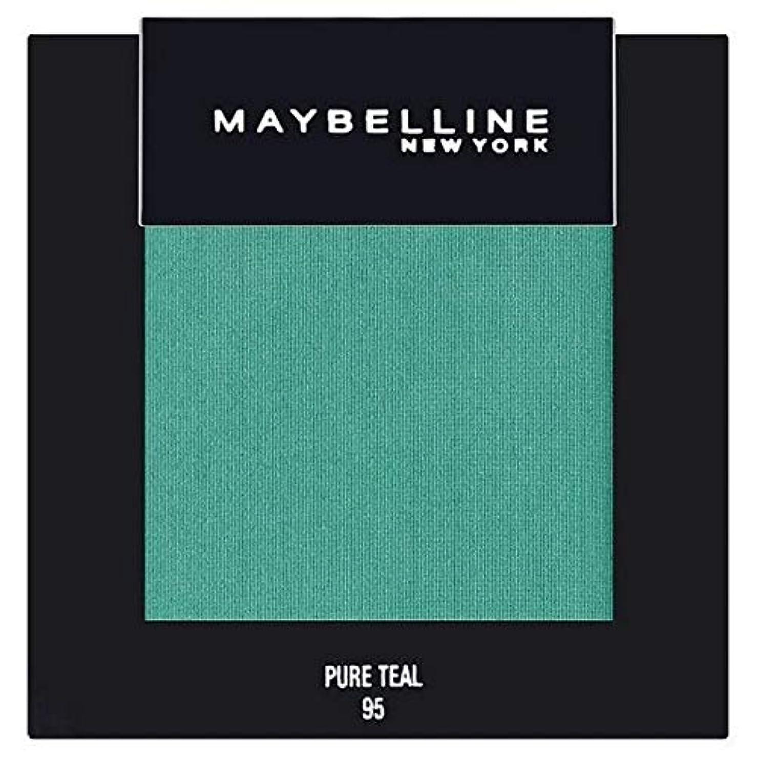 安西ティームシャイニング[Maybelline ] メイベリンカラーショー単一グリーンアイシャドウ95純粋ティール - Maybelline Color Show Single Green Eyeshadow 95 Pure Teal [並行輸入品]