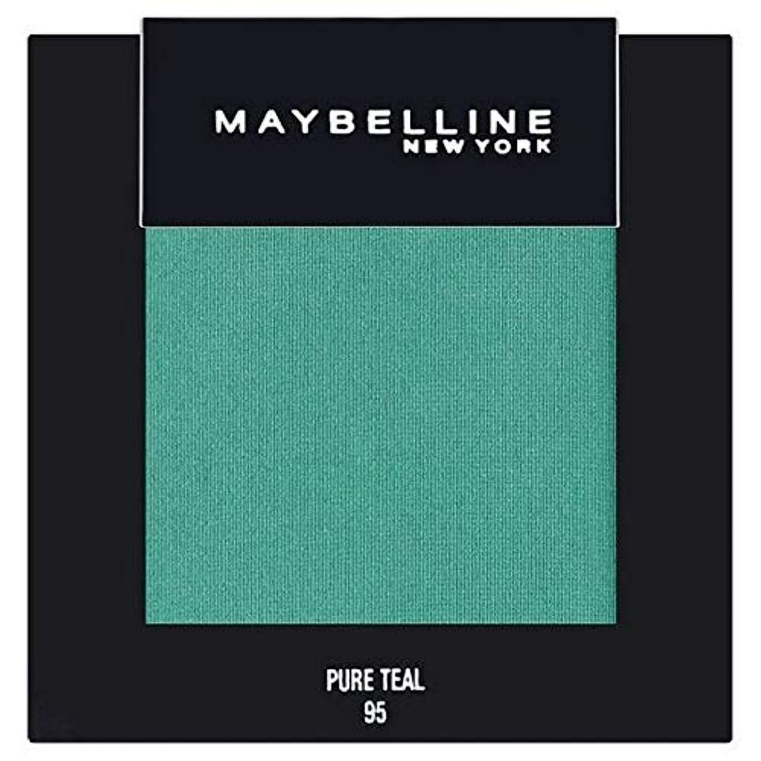 微妙テスト伝染病[Maybelline ] メイベリンカラーショー単一グリーンアイシャドウ95純粋ティール - Maybelline Color Show Single Green Eyeshadow 95 Pure Teal [並行輸入品]