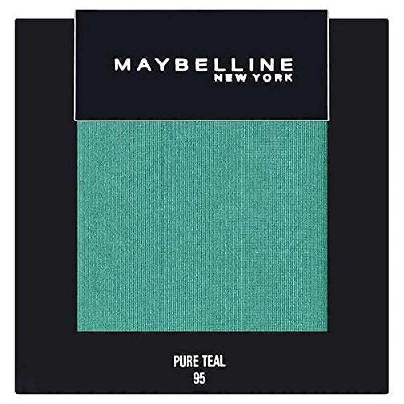 それにもかかわらずエステートつぶやき[Maybelline ] メイベリンカラーショー単一グリーンアイシャドウ95純粋ティール - Maybelline Color Show Single Green Eyeshadow 95 Pure Teal [並行輸入品]
