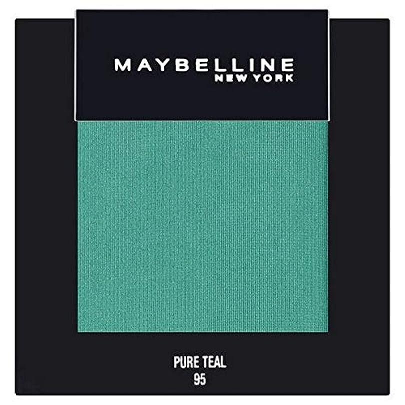 あいまいさ症状スカリー[Maybelline ] メイベリンカラーショー単一グリーンアイシャドウ95純粋ティール - Maybelline Color Show Single Green Eyeshadow 95 Pure Teal [並行輸入品]