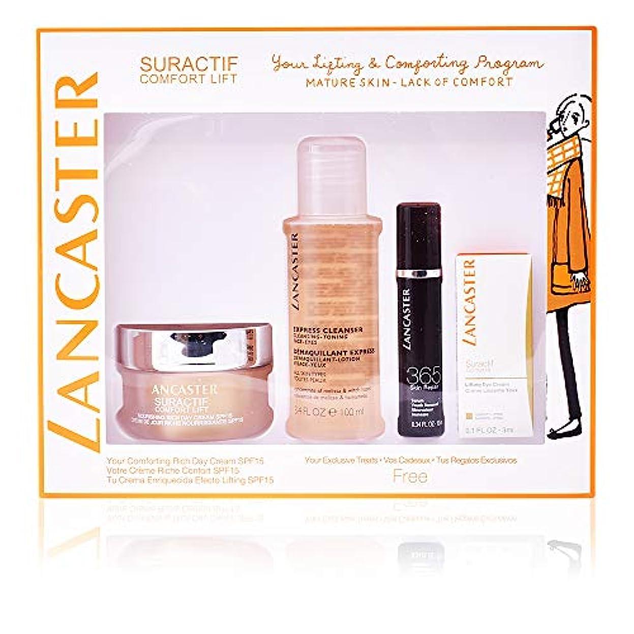 走るキウイ廃止するランカスター Suractif Comfort Lift Rich Set: Rich Day Cream 50ml+ Serum Youth Renewal 10ml+ Lifting Eye Cream 3ml+ Express...