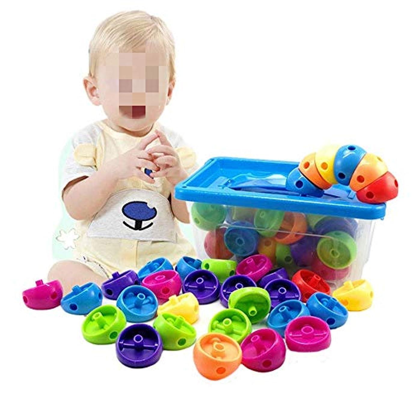 手伝う愛夕食を食べる木製ブロックレンガ、子供や幼児以上3歳のおもちゃのために58で建物サイズ収納ボックスセット(カラー:マルチカラー、サイズ:FREE SIZE) Soul hill (Color : Multicolored, Size : FREE SIZE)