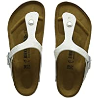 Birkenstock Unisex Gizeh, Silver Sandals