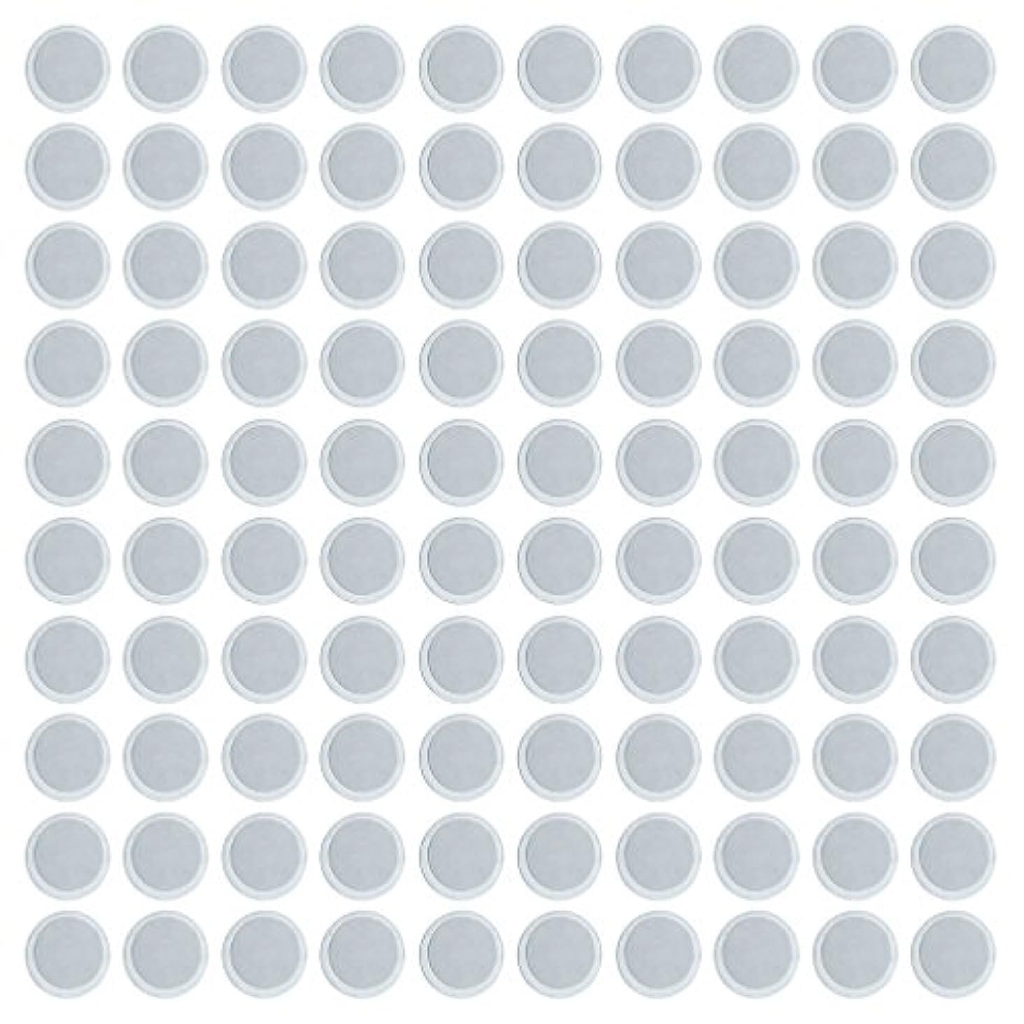 デザイナー洪水カウンタ約100個 メイクアップパン 空パン アイシャドー ブラッシュ メイクアップ 磁気パレットボックスケース 2タイプ選べ - 円形