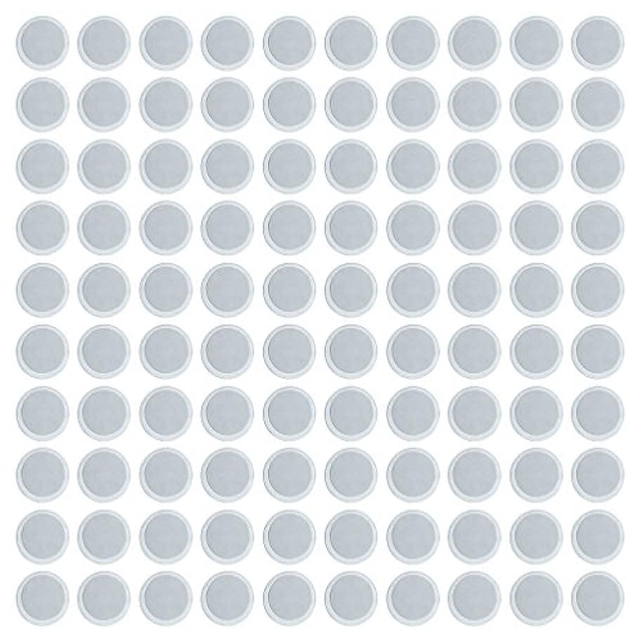 パケット本能むしろKesoto 約100個 メイクアップパン 空パン アイシャドー ブラッシュ メイクアップ 磁気パレットボックスケース 2タイプ選べ - 円形