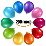 風船 200個さまざまな色12インチのゴム風船は誕生日パーティークリスマス結婚式と祝日に適用されます