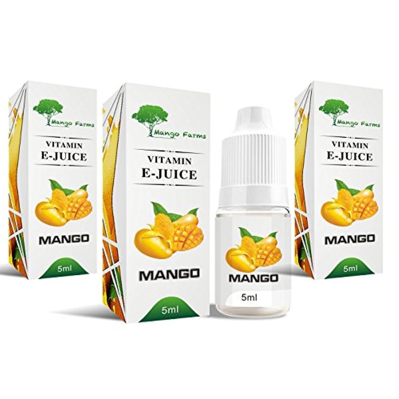 妨げる細胞遠え電子タバコ Mango (マンゴ)完熟マンゴ 安心の高品質 ビタミンリキッド ニコチン?タール無し 健康志向?禁煙?節約にオススメ! お得な5mlを3本セット!(タバコ150本相当 0.1m使用時) 使い切りサイズ