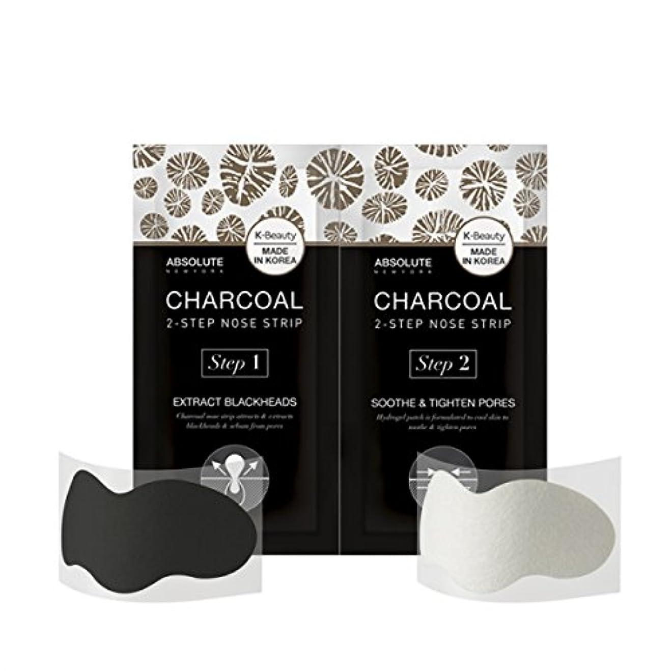 リンスする出力(3 Pack) ABSOLUTE Charcoal 2-Step Nose Strip (並行輸入品)