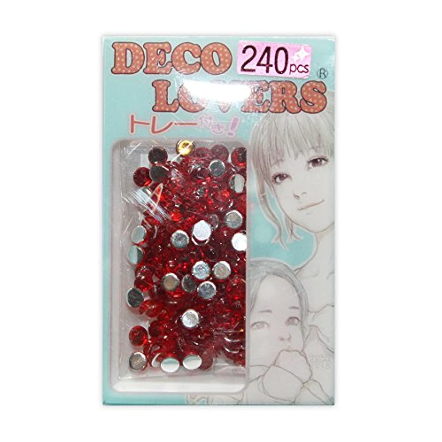 予防接種する宿命吸い込むラインストーン DL037/acryl4mm red