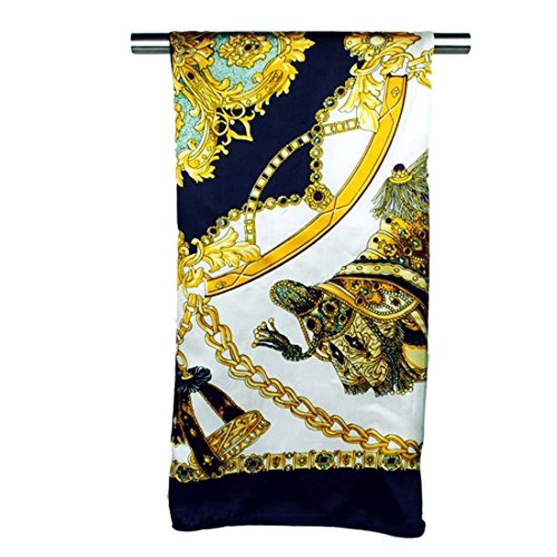バスト大いに鼓舞するExonlyone レディーススカーフ90 * 90センチメートル印刷大型スクエアショールのスカーフシルクスカーフ