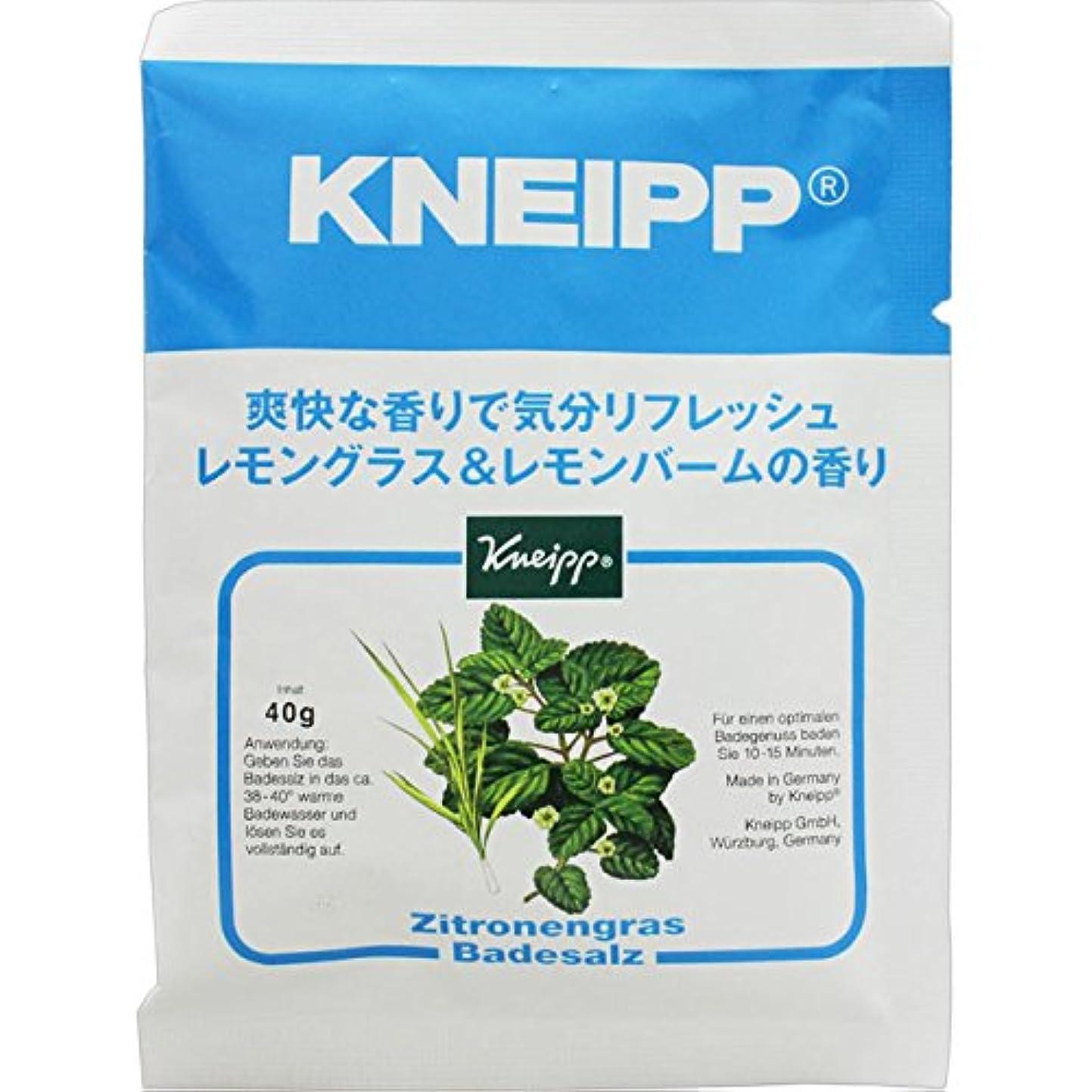 ブラウン範囲食べるクナイプ?ジャパン クナイプバスソルト レモングラス&レモンバーム 40g