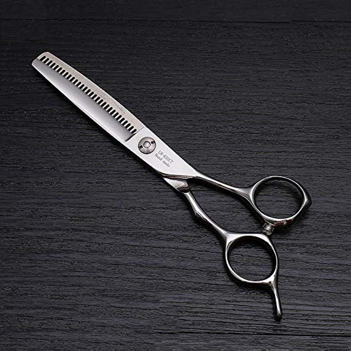 エーカー小競り合い知的6インチの高級ヘアカットはさみ、美容院の特別な髪はさみ モデリングツール (色 : Silver)