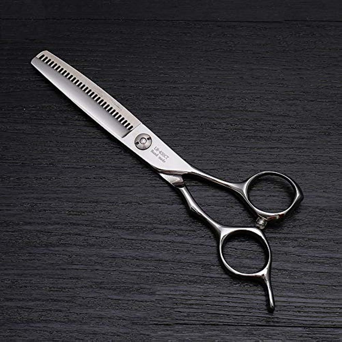 温度見捨てる塊理髪用はさみ 6インチのヘアカットはさみ、ハイエンドの美容院の特別な髪のはさみの毛の切断はさみのステンレス製の理髪師のはさみ (色 : Silver)