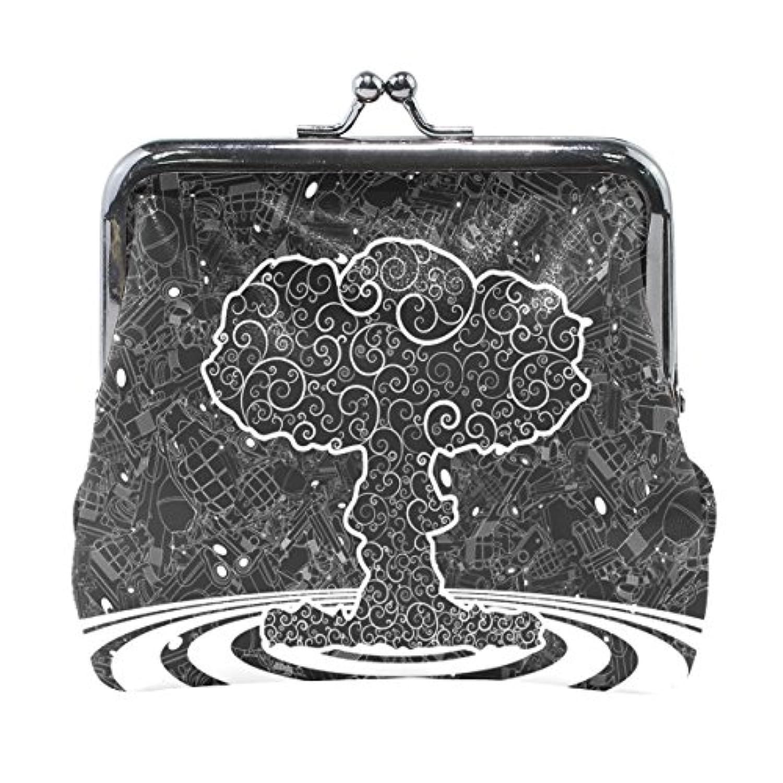 Anmumi がま口 ポーチ 植物 コインケース 財布 小銭入れ PUレザー レディース キッズ 人気 大容量 小物ケース かわいい 通勤通学