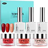Dip Powder Nail Kit, TOMICCA Nail Dipping Powder System Starter Kit of 3 Colors 0.5oz - Finer Powde for Excellent Color - Easy to Apply