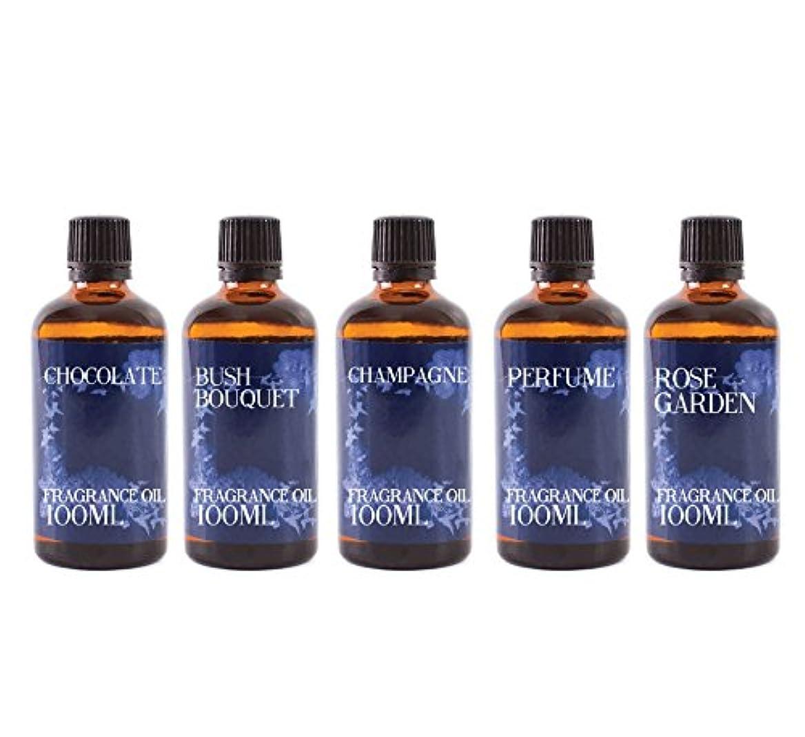 本土火曜日自動化Mystic Moments | Gift Starter Pack of 5 x 100ml Valentines Romance Fragrant Oil