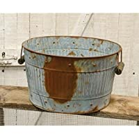 Rusty/亜鉛メッキMedium Round Tub