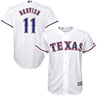 Outerstuff Yu Darvish MLB Majestic Texas RangersクールベースHome Jersey Youth (S - XL)