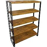 Ironstone 5 Tier Bookcase Shelf Storage Bookshelf 1.55m