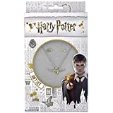 Harry Potter Necklace and Stud Earring Golden Snitch Gift Set