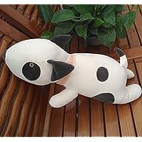 HuaQingPiJu-JP ぬいぐるみ漫画50センチメートル犬の動物のクッションの枕犬のぬいぐるみ動物のおもちゃベビードール犬の柔らかいおもちゃパーフェクト誕生日ギフトホームデコレーション(ミルクホワイト)