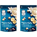Gerber Yogurt Melts, Banana Vanilla, Freeze-Dried Yogurt Snack Made with Real Fruit, 1 OZ (Pack of 2)