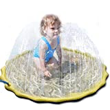 Viugreum 噴水マット 噴水おもちゃ プレイマット プール 水遊び ウォーター 子供/キッズ 親子遊び 芝生遊び 庭 家庭用 夏対策 噴水池 直径170CM