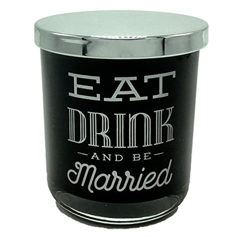 位置するはげ面倒DWホームEat Drink and Be Married WarmタバコScented Candle