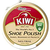 KIWI (kiwi) キィウイ 靴墨 シューポリッシュ 油性靴クリーム[45ml][黒・茶・無色] キューイ 靴クリーム