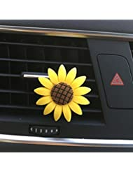 ecosin車Incense MultifloraひまわりAirコンセントFragrant Perfumeクリップ消臭ディフューザー item size: (L * D) 1.6 * 1.1 cm / 0.63 * 0.43...