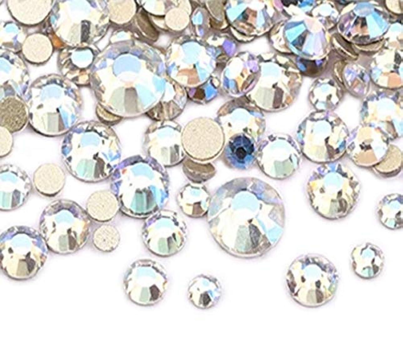 休み皮肉法医学XIULI カラー ラインストーン DIY ネイルを飾てと服装使用 高い採光 約1440粒(ss3-20混合サイズ) (ブルームーンライト)