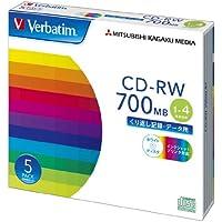 三菱ケミカルメディア Verbatim  くり返し記録用 CD-RW SW80QP5V1 (1-4倍速/5枚)