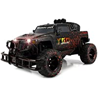 Velocity Toys Mud Monster Hummer H3T Pickup Battery Operated Remote Control RC Off-Road Truck Big 1:10 Scale RTR w/ Working Headlights, Custom Mud Splatter Paint Job (Colors May Vary) [並行輸入品]